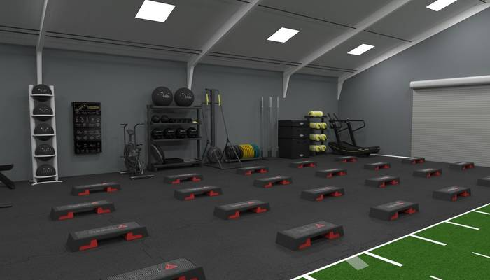 Inside the gym